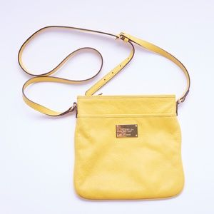 Ralph Lauren Mustard Cross Body Bag